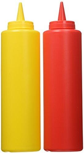 2 Ketchup and 2 Mustard Condiment Squeeze Bottles 8 Oz by Greenbrier