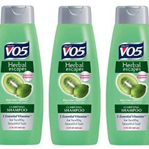 3 Pk, Alberto VO5 Herbal Escapes Kiwi Lime Squeeze Clarifying Shampoo, 15 Fl. Oz.